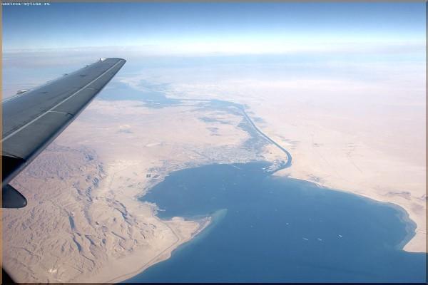 пустыня из самолета